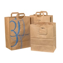 Flat Handle Grocery Bags