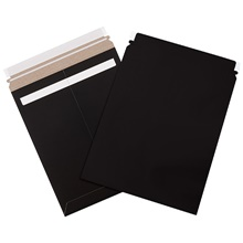 Black Self-Seal Flat Mailers